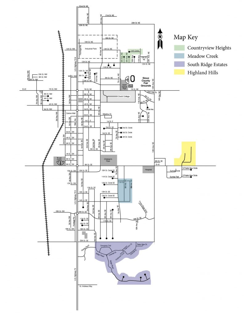 Sioux Center Residential Map May 2021