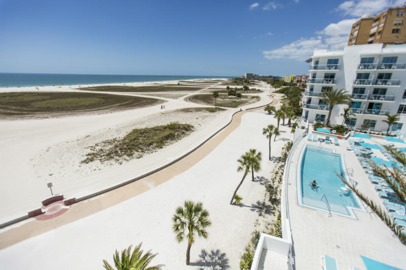 Beachside Hotel and Pool at the Treasure Island Beach Resort - Tampa Bay Beaches