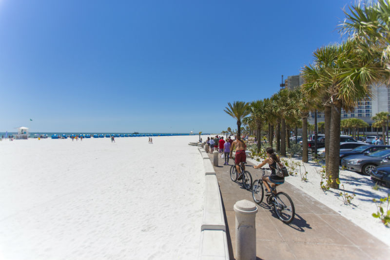 Bikes on Beachside Boardwalk on Clearwater Beach - Tampa Bay Beaches