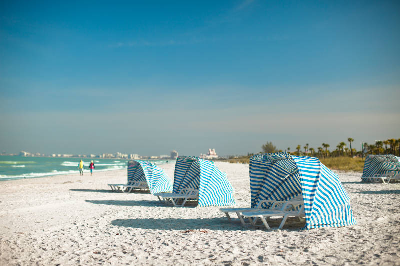 Blue Cabanas on St. Pete Beach - Tampa Bay Beaches