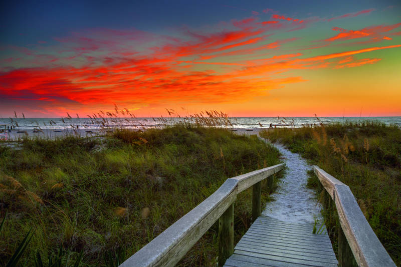 Boardwalk Strolls with Sunset Views on Indian Rocks Beach - Tampa Bay Beaches