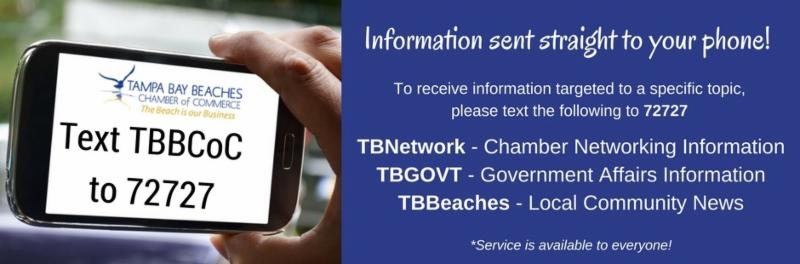 Text Serive for Tampa Bay Beaches Chamber of Commerce