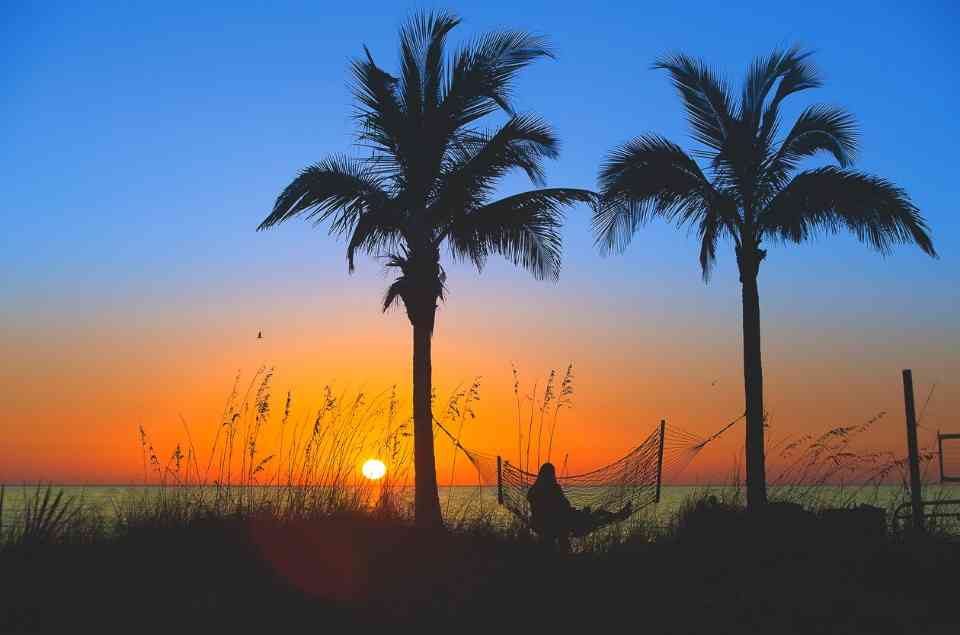 Watching the Sunset from a Hammock on Madeira Beach