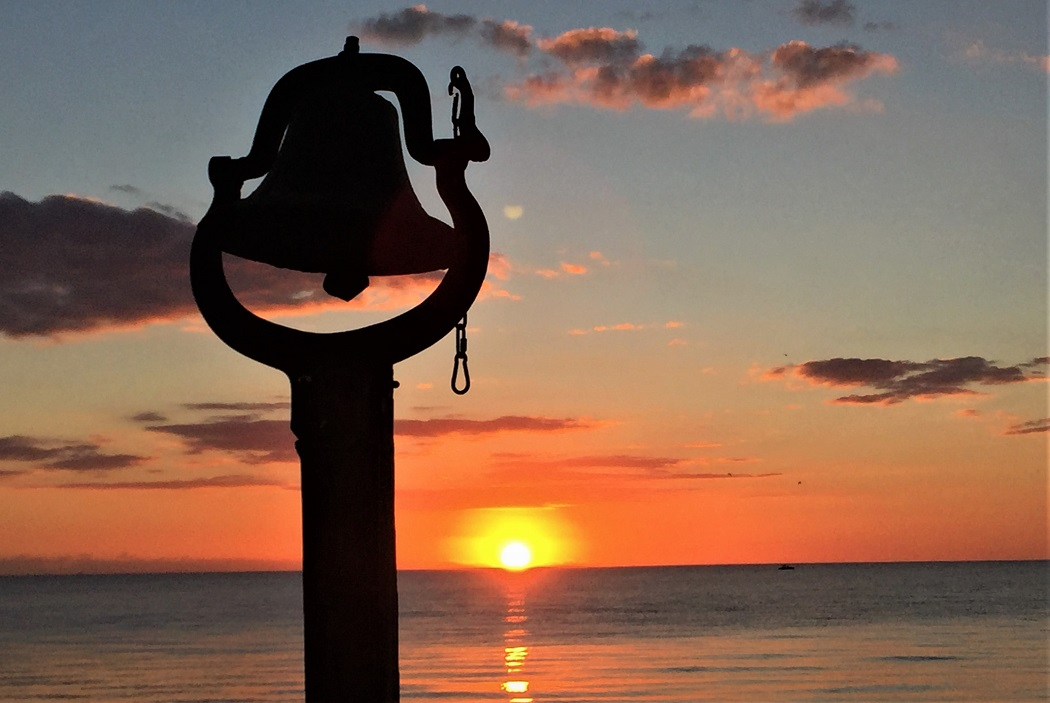 Pass-A-Grille Bell at Sunset on Tampa Bay Beaches