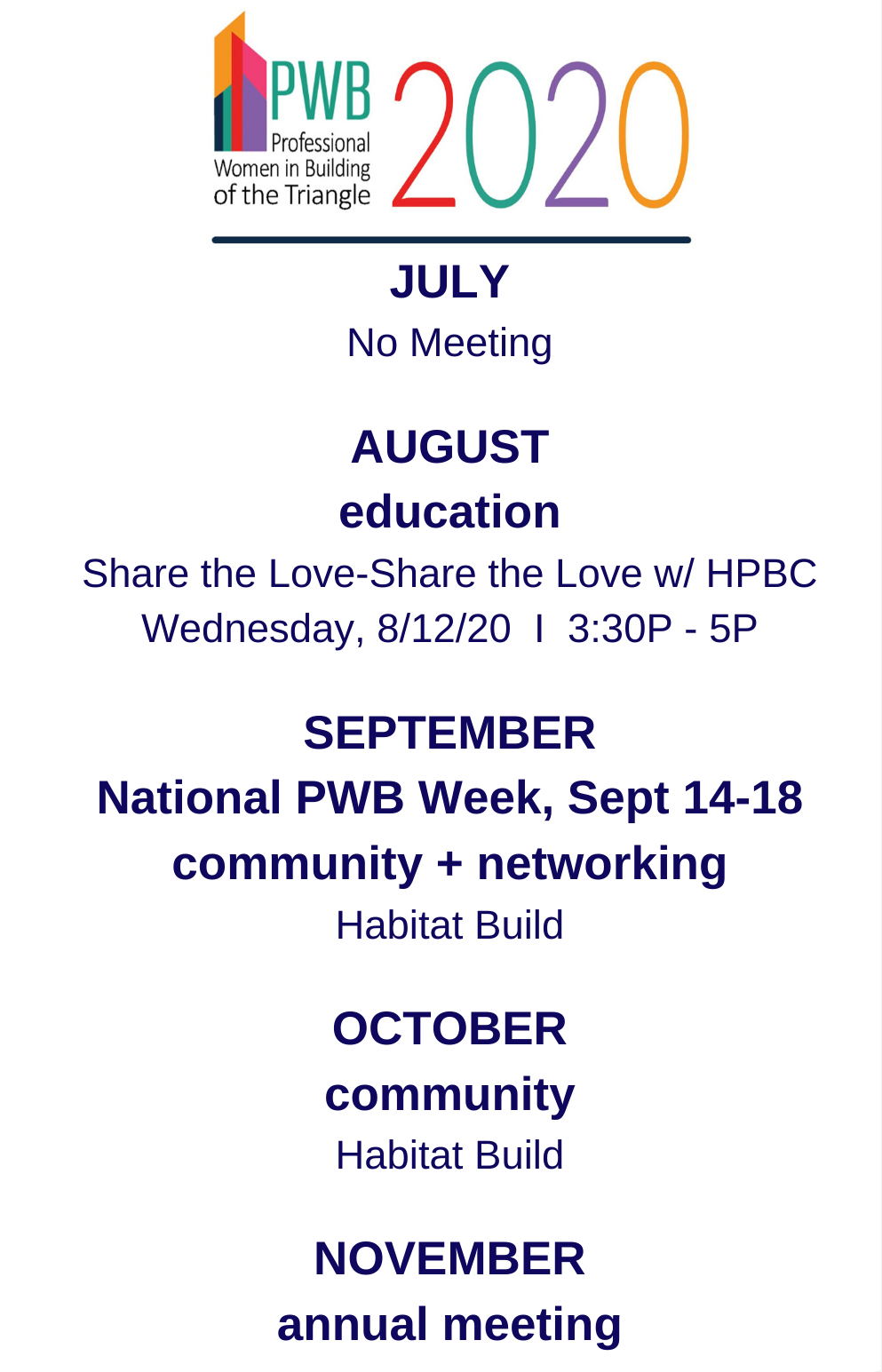 PWB July -September 2020