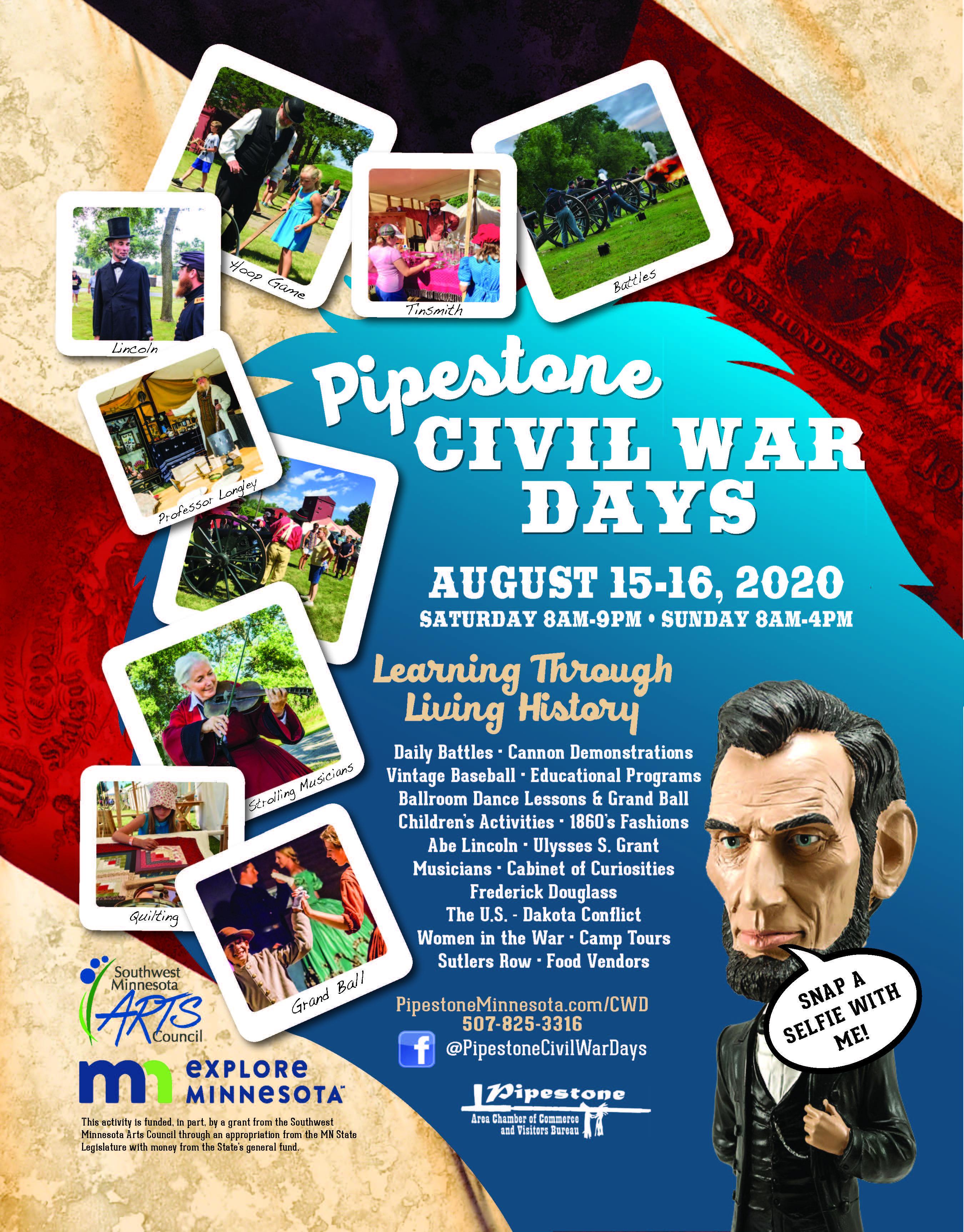 Pipestone Chamber Civil War Flyer 2020