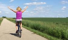 biking on Casey Jones State Trail