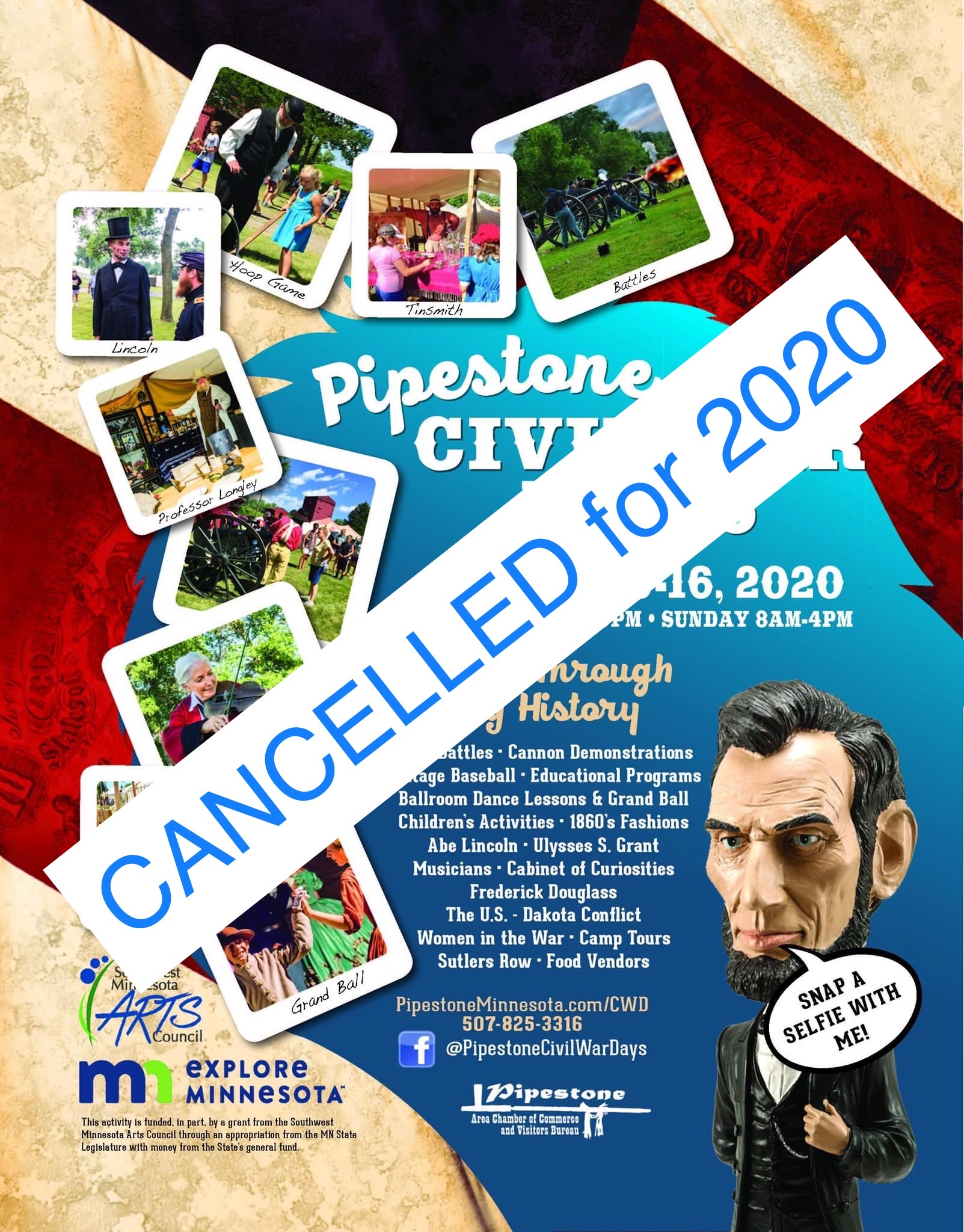 Cancelled: 2020 Civil War Days
