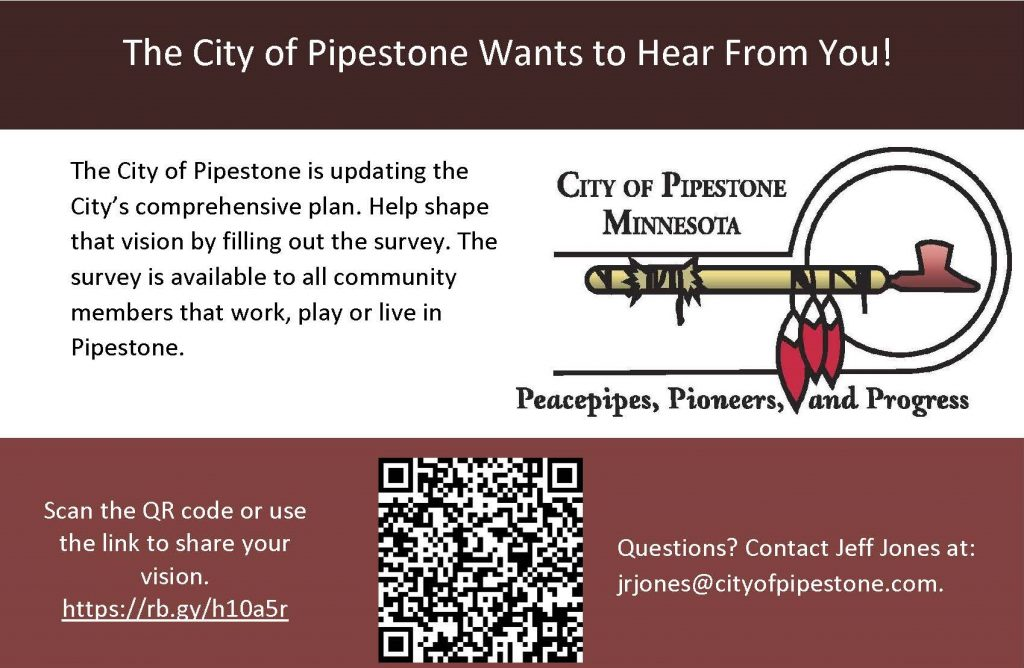 City of Pipestone Comprehensive Survey