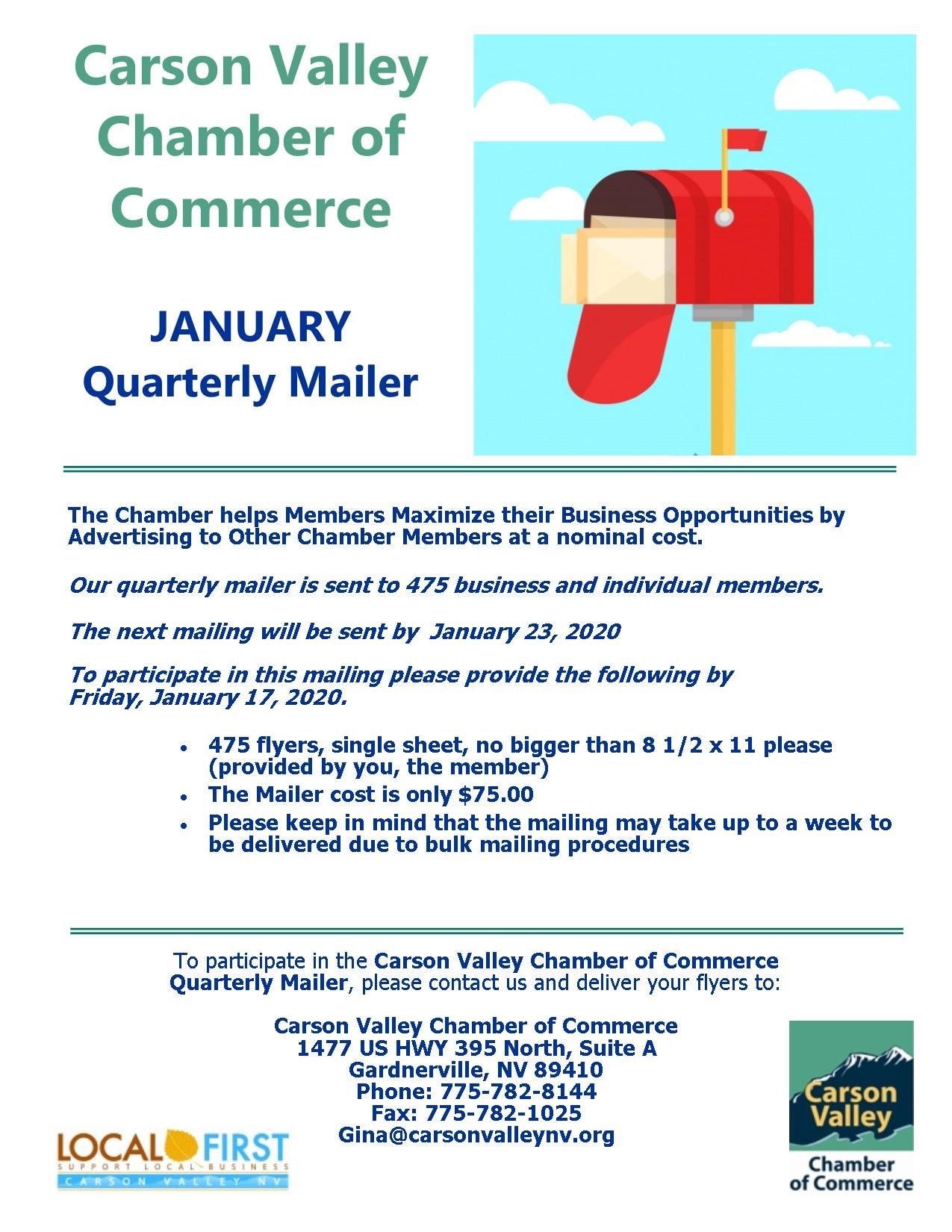 January Quarterly Mailer Flyer 2020