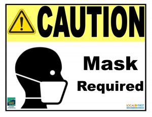 Caution Mask Required