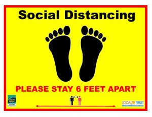 Little Feet Social Distancing Floor Sign