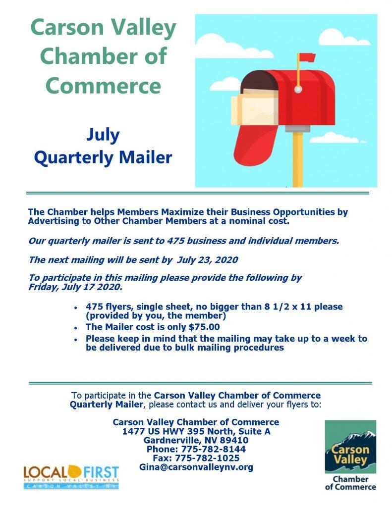 July Quarterly Mailer Flyer 2020