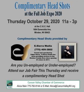 Head Shots Job Fair flyer Fall 2020