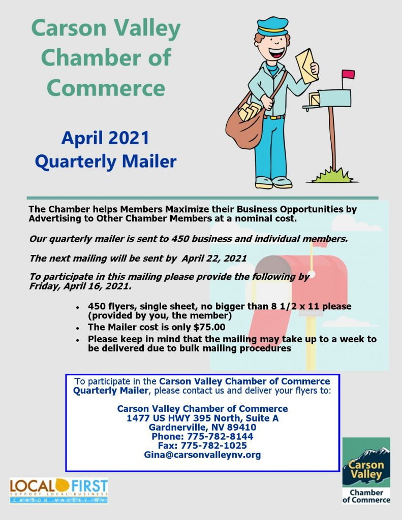 April Quarterly Mailer Flyer 2021