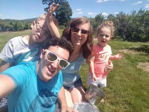 Shane Gormley family photo outside