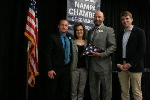 Mitch Minnette, Mayor Kling, Mike Peña, and Dirk Mendive
