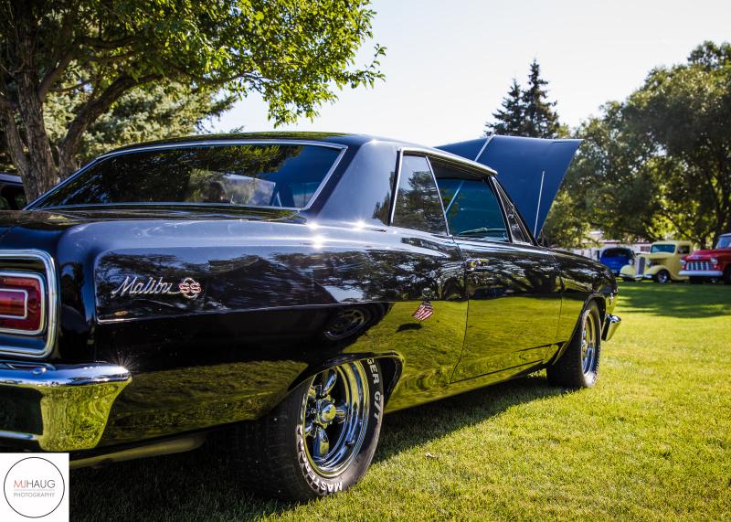 black Malibu car show