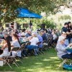 shrimp boil crowd and band