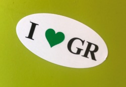 I Heart GR Sticker