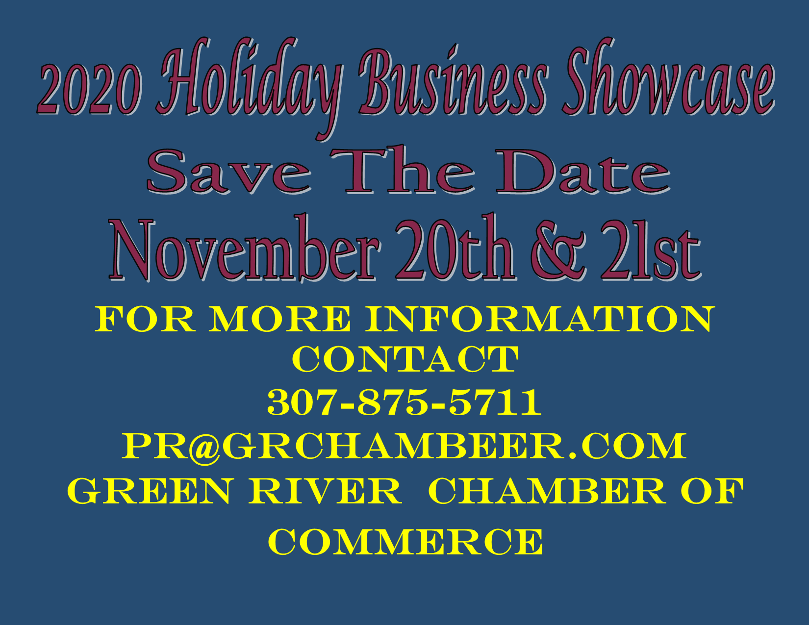 Quick holiday business save the date flyer
