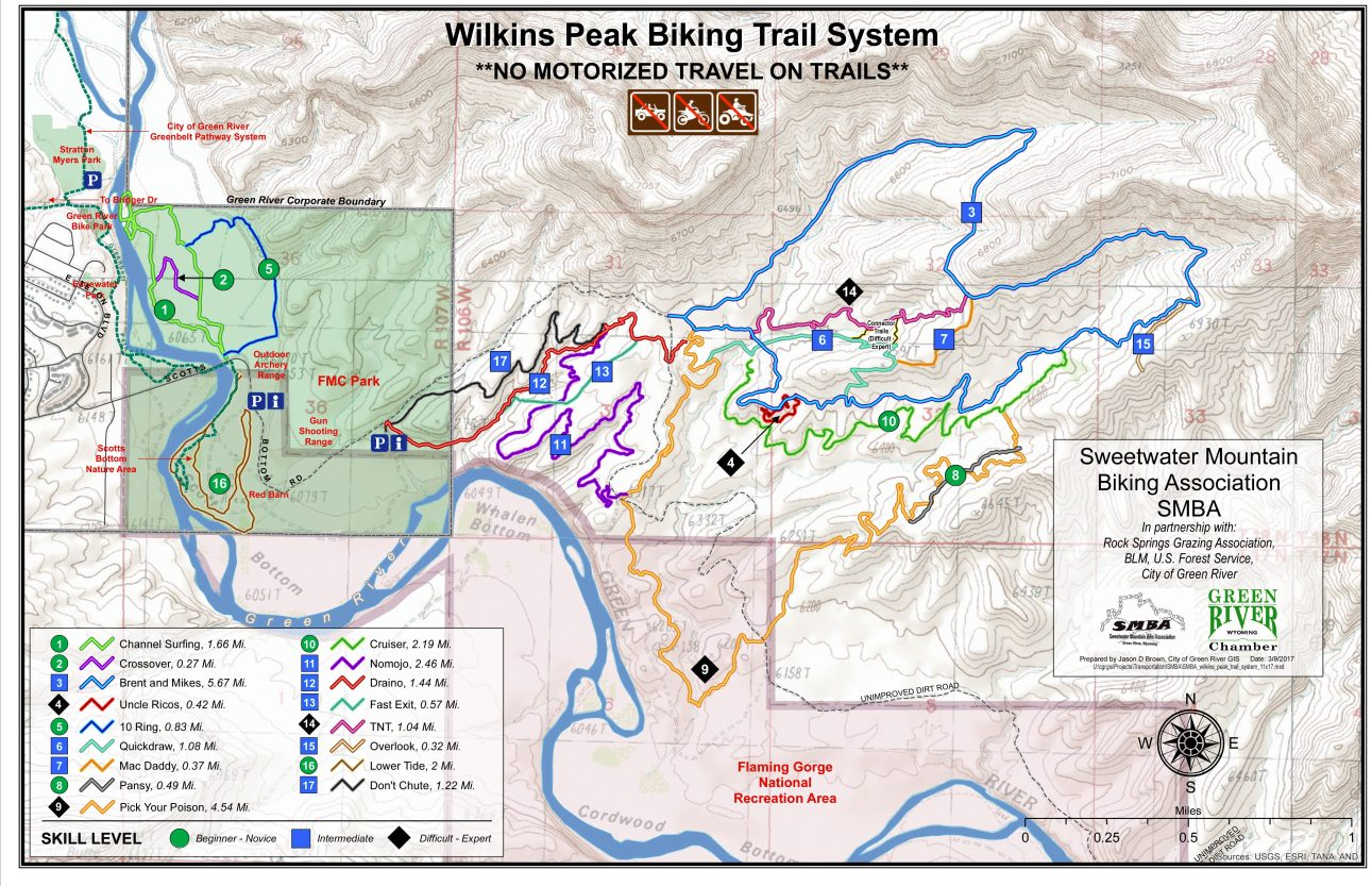 Wilkins Peak Bike Trails Map