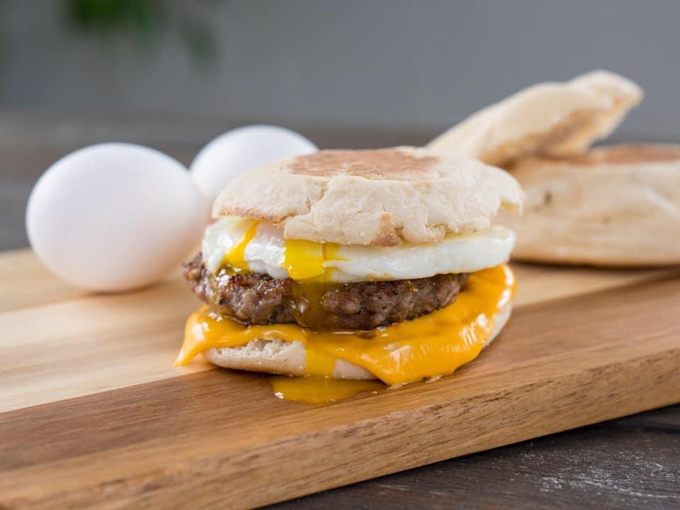 hitching post breakfast sandwich