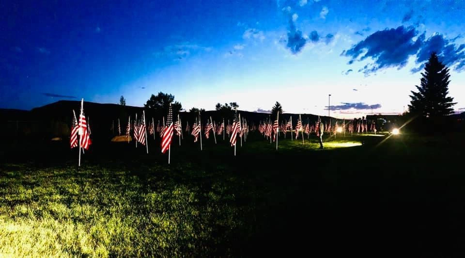 night time flags of honor