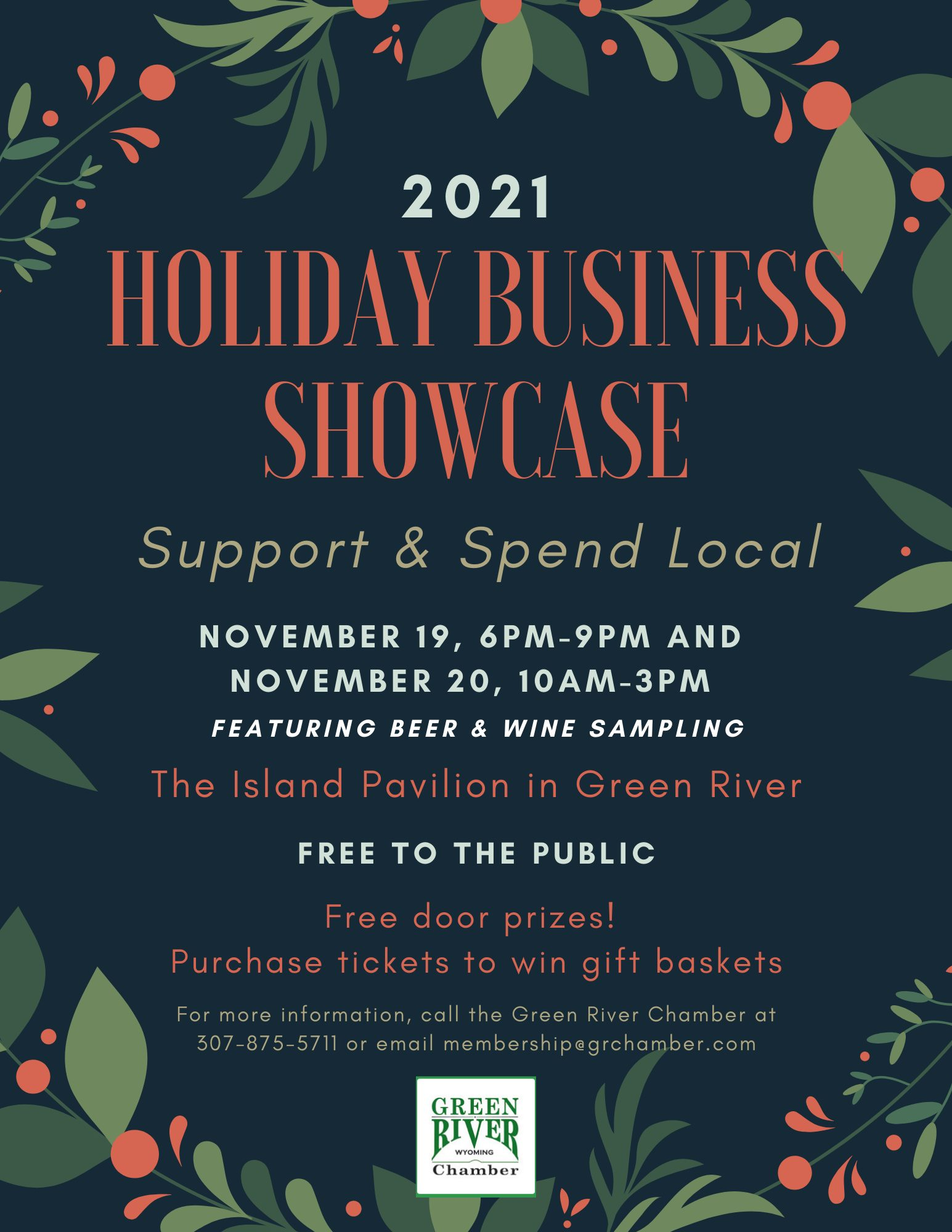 Holiday Business Showcase flyer PNG