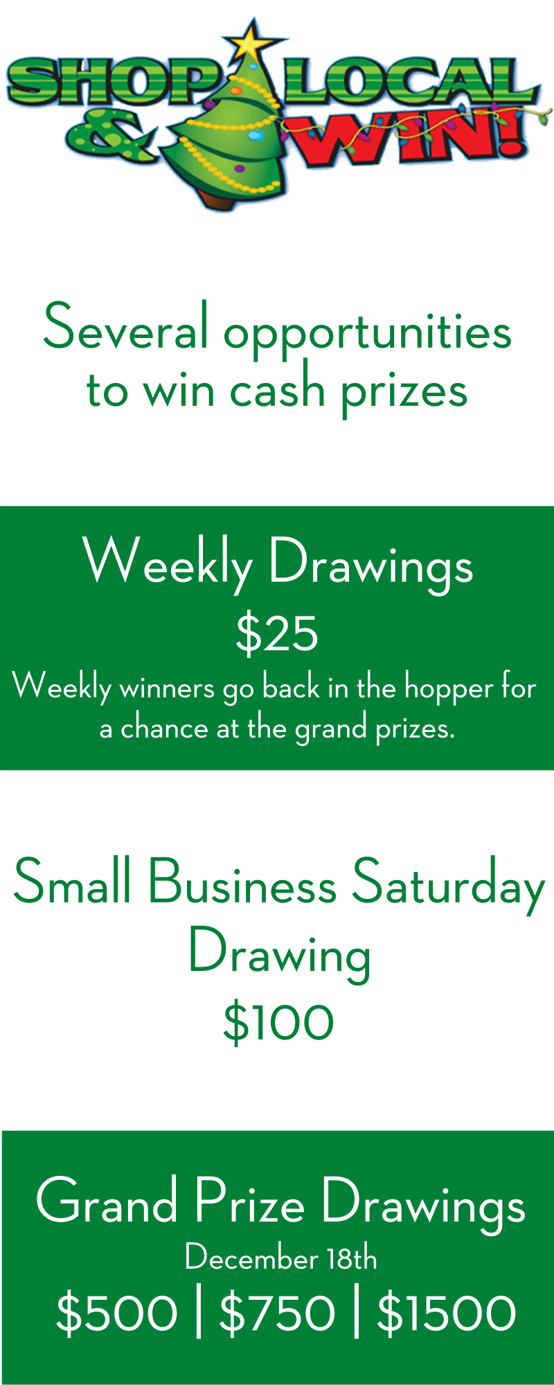 Shop Local & Win! Prizes