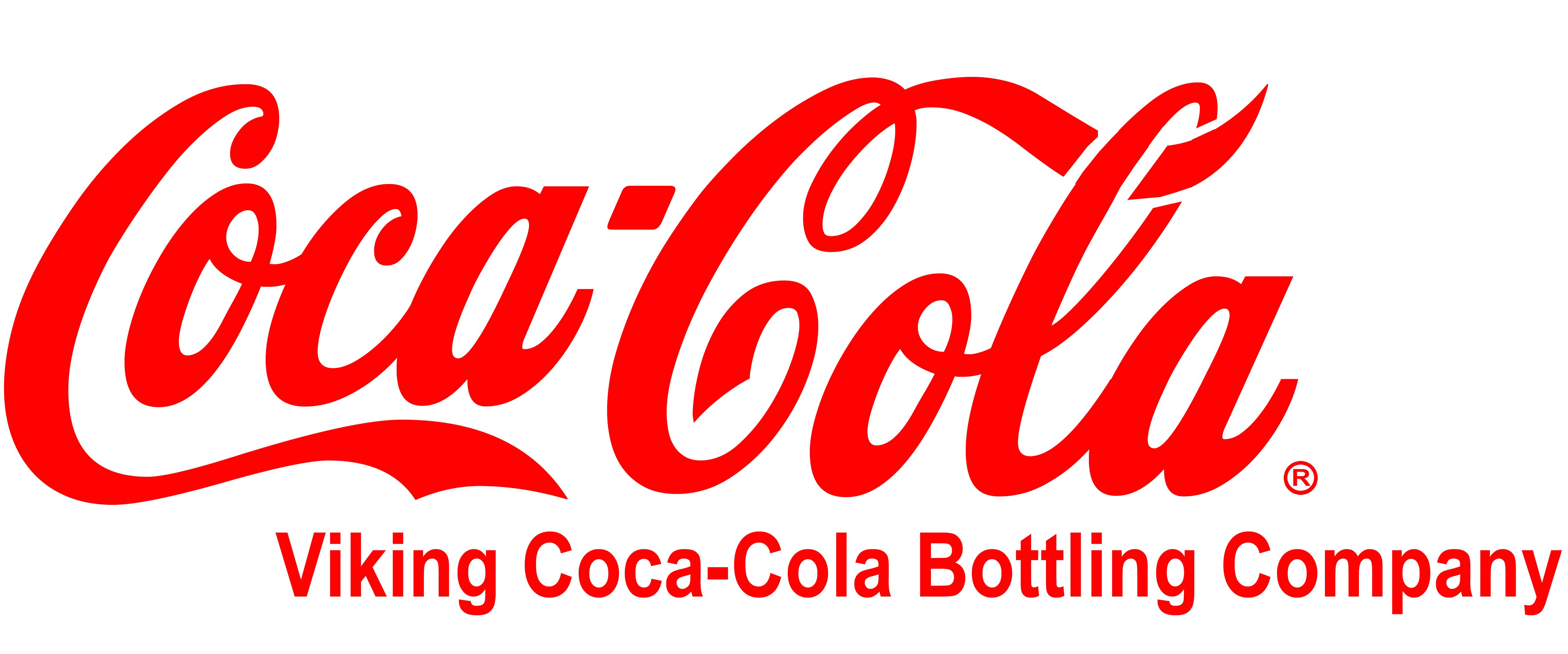 Viking Coca-Cola Script Logo