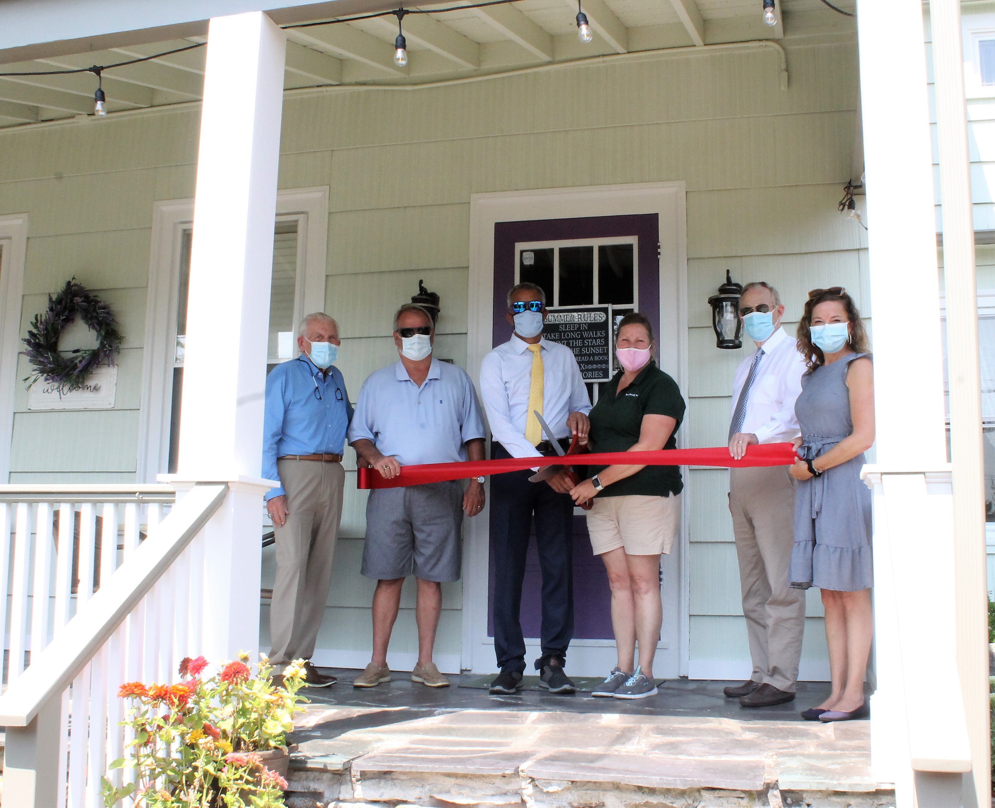 Ribbon Cutting for New Owners of the Westbrook Inn