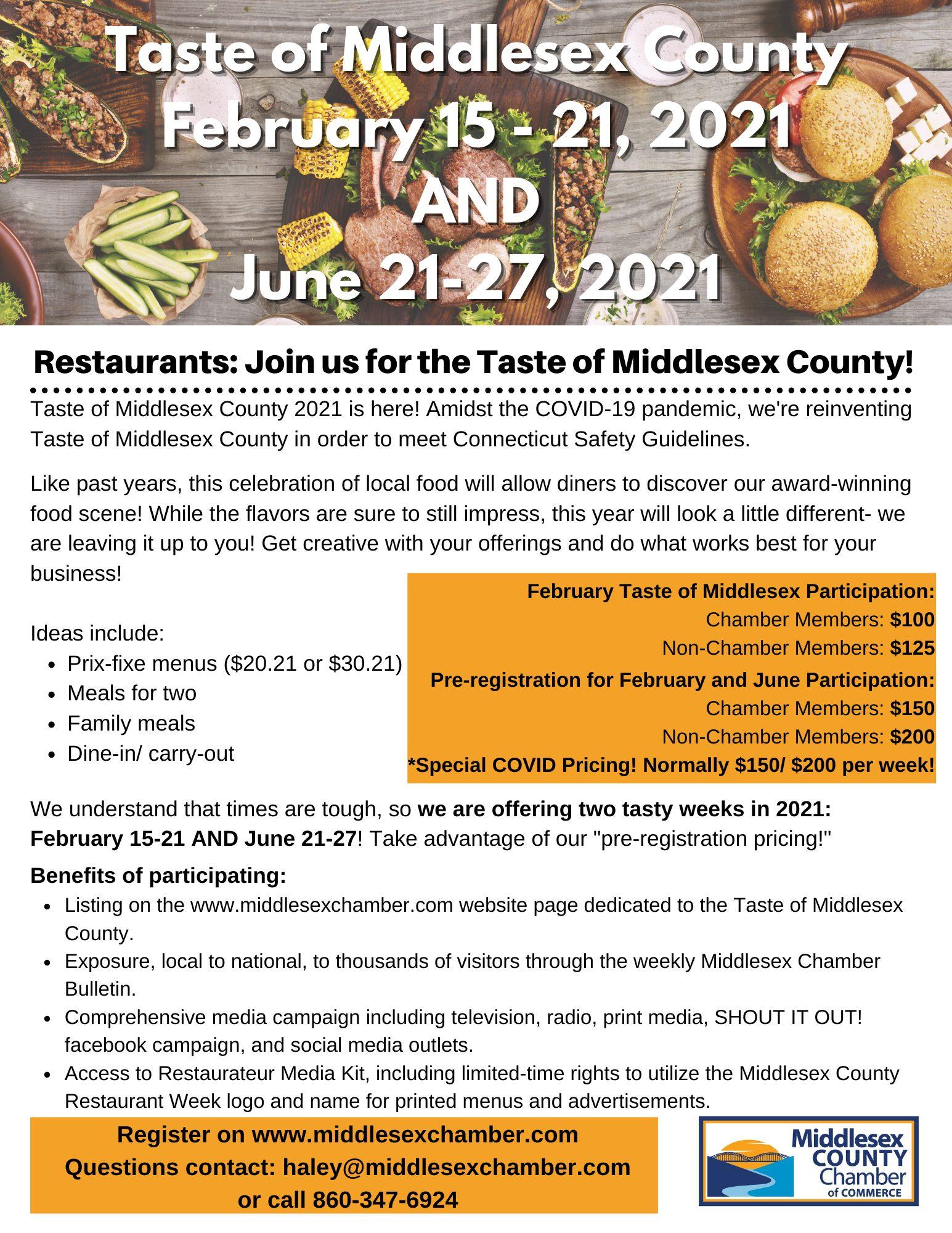 2021 Taste Flyer- For Businesses