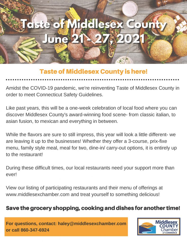 Taste of Middlesex County 2021 June 21-27- For Patrons