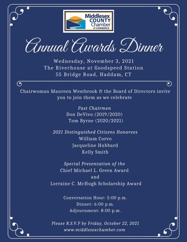 2021 Annual Awards Dinner Flyer