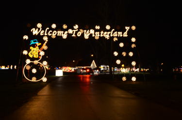 Entrance to Winterland Light Show