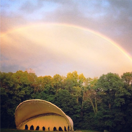 Rainbow over Martin Amphitheater in Ellis Park