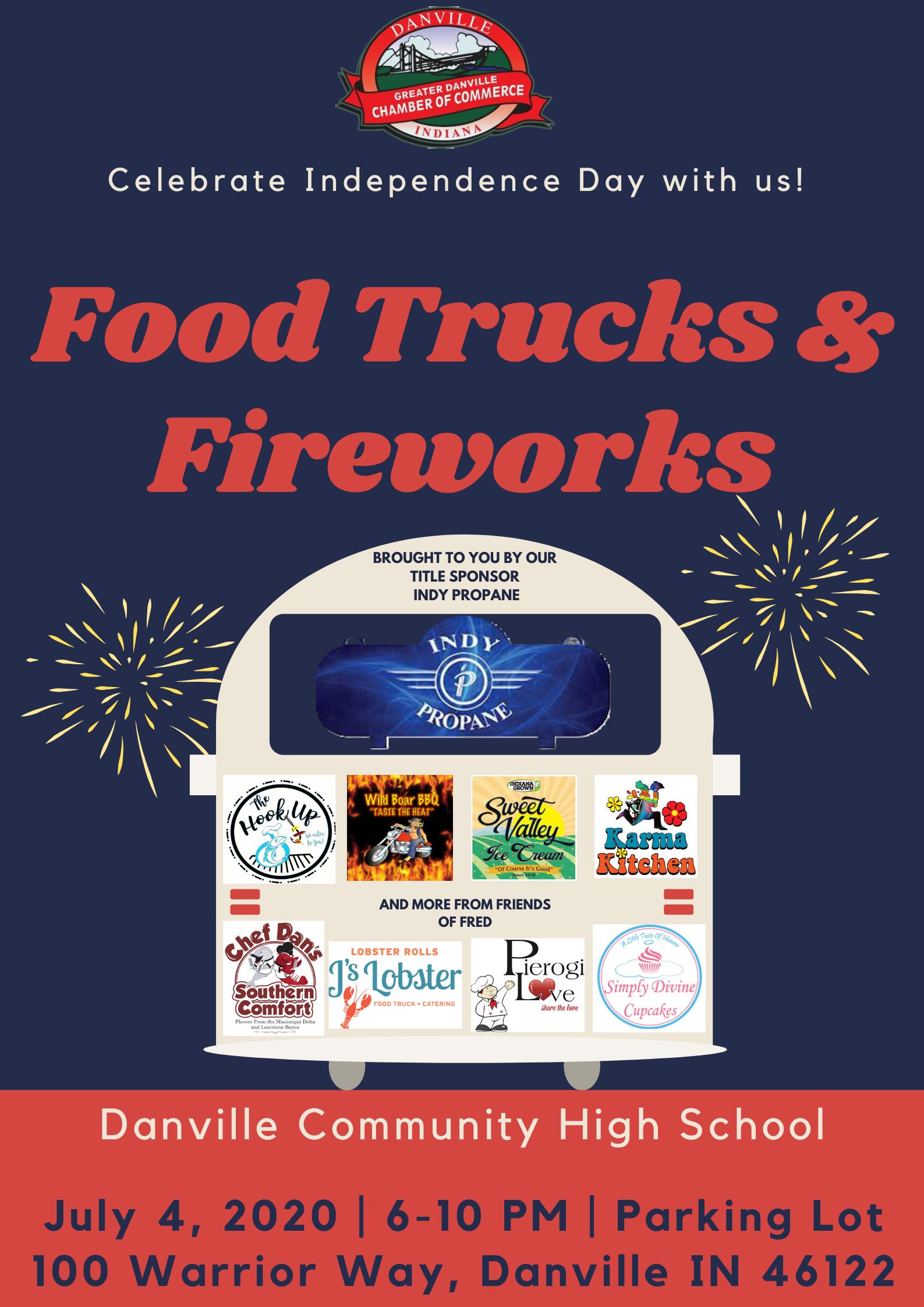 Food Trucks and Fireworks