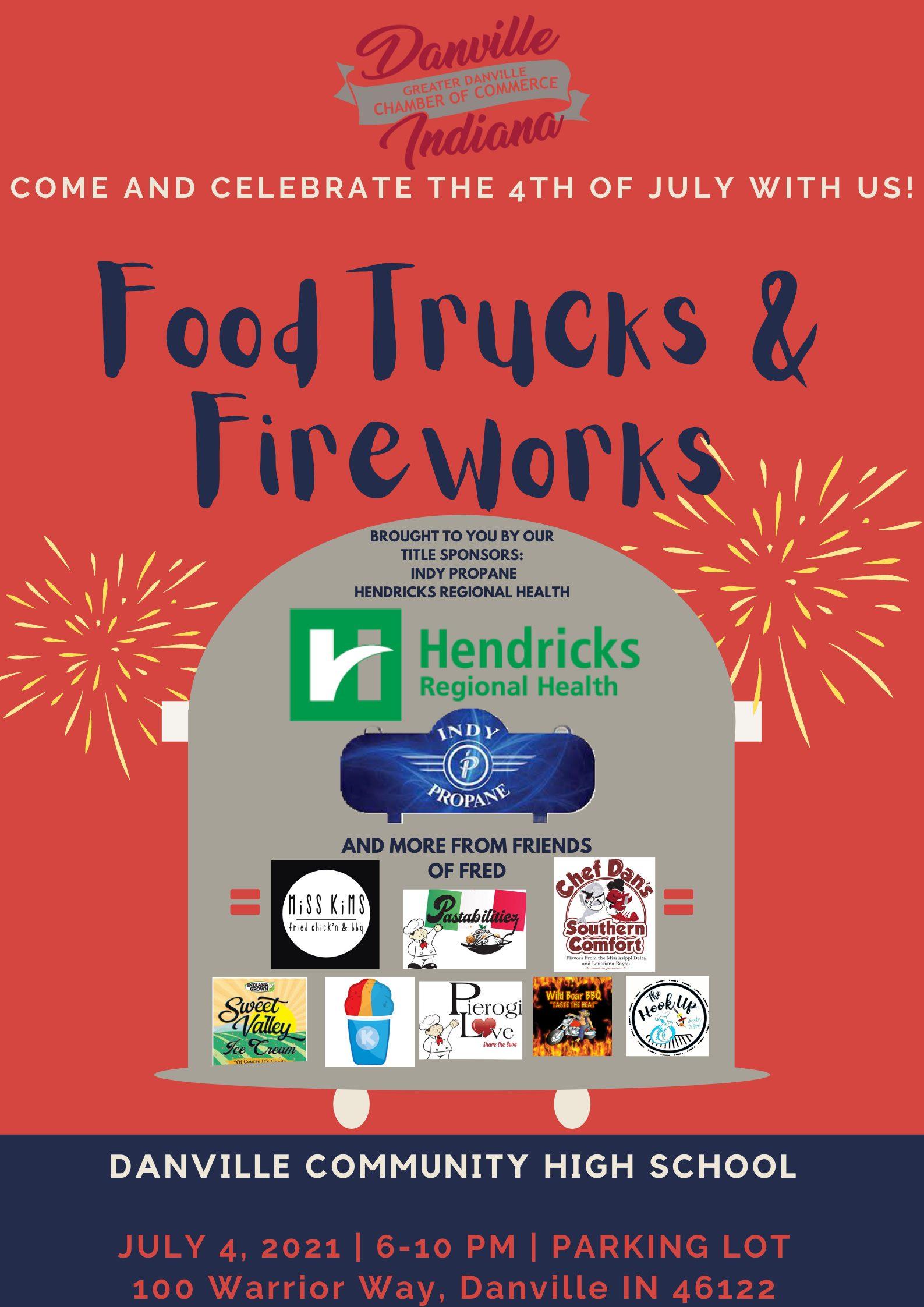 2021 Food Trucks and Fireworks flyer