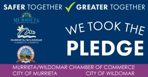 We Took The Pledge Graphic to indicate a businesses commitment to safety