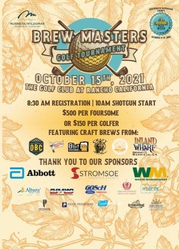 Brew Masters Golf Tournament Flyer