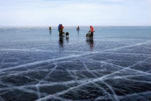 people on ice