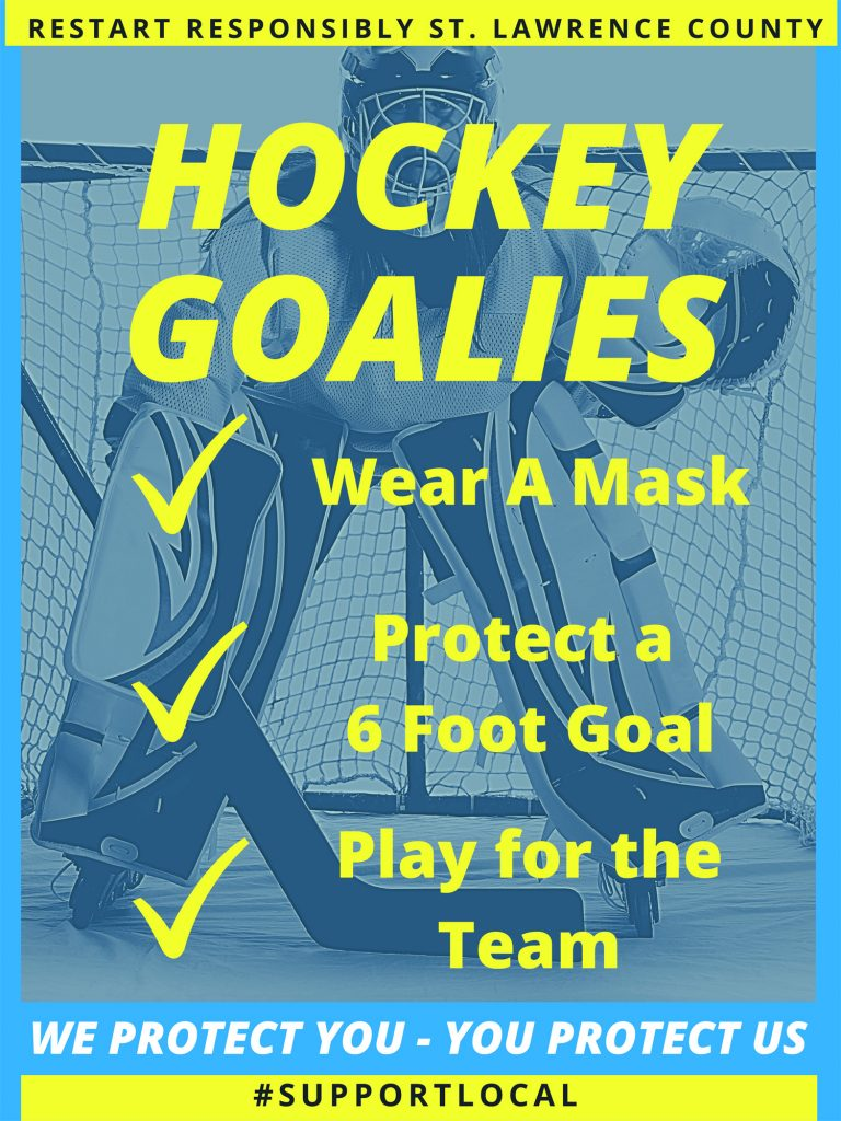 Social Distance Hockey Poster