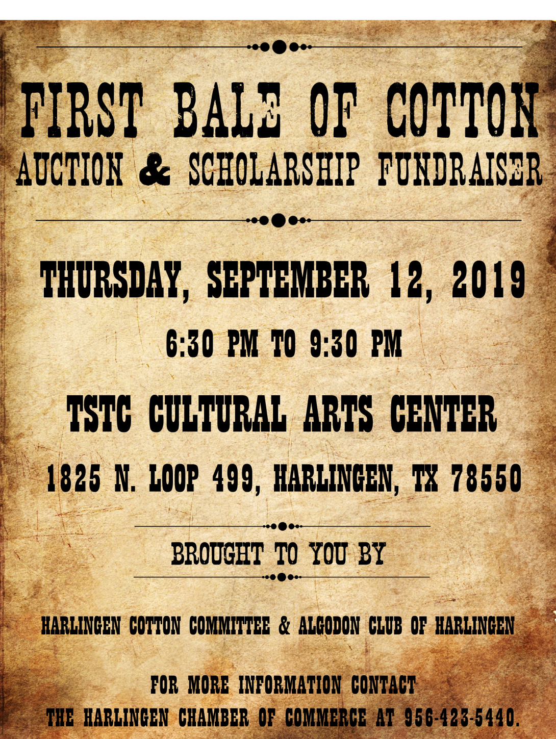 First Bale of Cotton Auction & Fundraiser