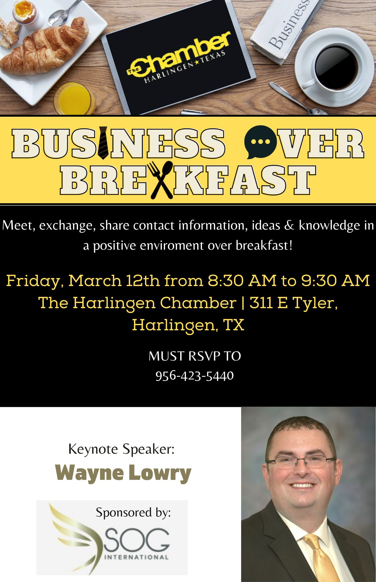 Meet, exchange, share contact information, ideas & knowledge in a positive enviroment over breakfast! (4)