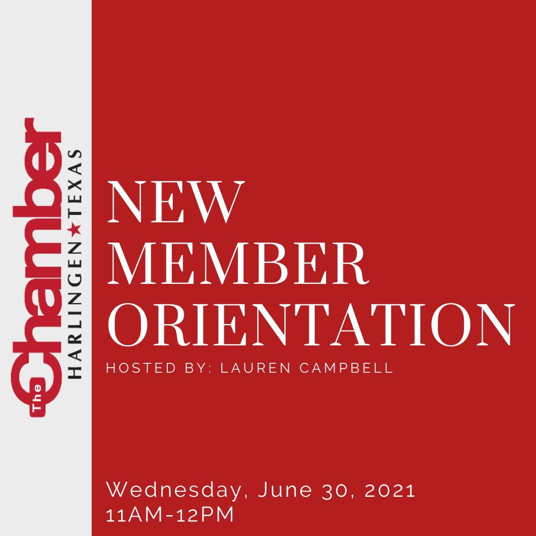 New Member Orientation - June