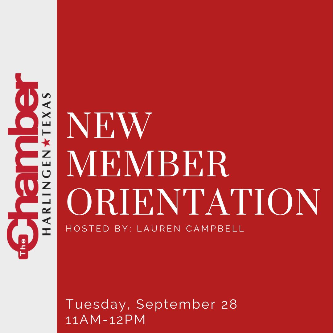 New Member Orientation - September