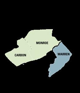 Carbon Monroe Warren Map