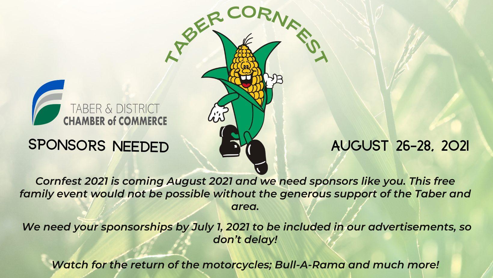 Copy of Cornfest sponsors needed 2021