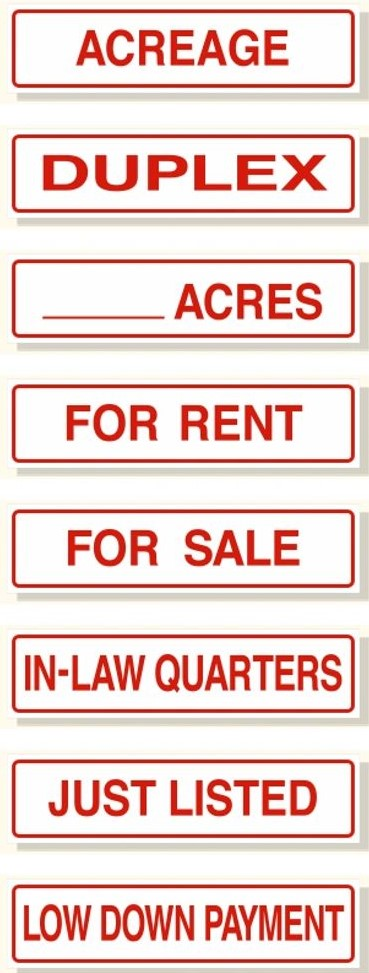 rider signs for rentals or sales